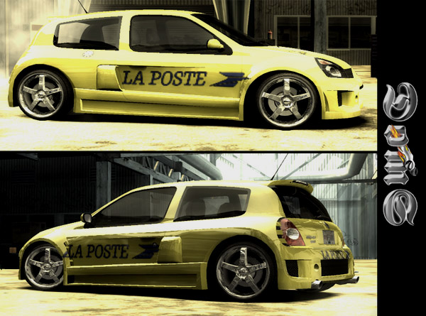 Renault Clio V6 Sport Black. Renault Clio Sport V6 Yellow.