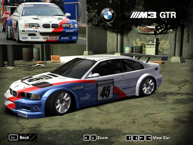 Car One Stop Closer Bmw M3 Gtr Most Wanted Wallpaper